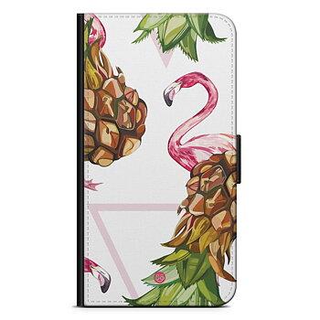 iPhone 7 Plånboksfodral - Ananas & Flamingo