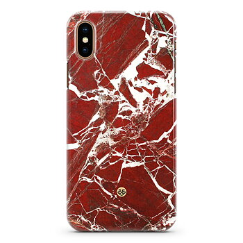 iPhone X / XS Premium Skal - Red Marble