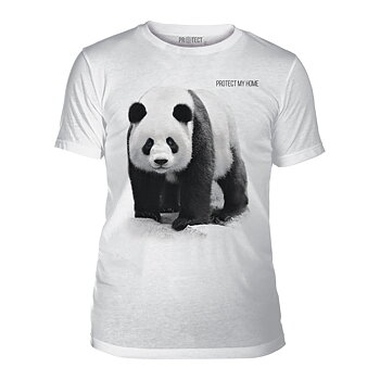 "Panda T-shirt Protect My Home ""Unisex"""
