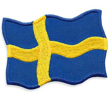 Broderad Svensk Flagga Vajande