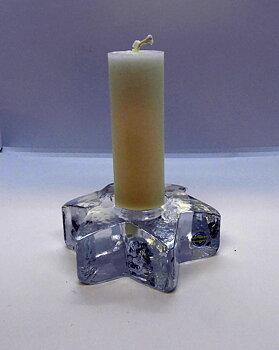 Stella Stjärnljusstake Klarglas 125 mm med ljus
