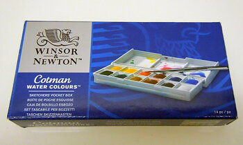 Winsor & Newton Cotman Water Colours 12 - 1/2 koppar