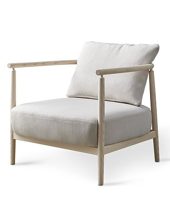 Armchair, HUMBLE, Pierre Sindre,  Wood White  Oil /  Fabric Sand
