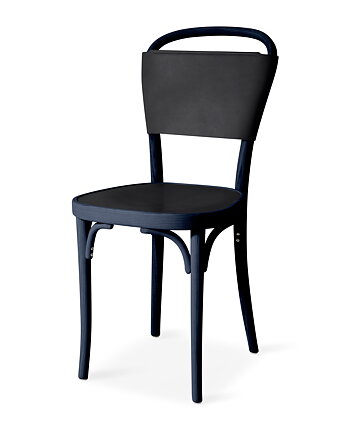 Chair, VILDA 3, Jonas Bohlin, Blues Blue /  Black leather.