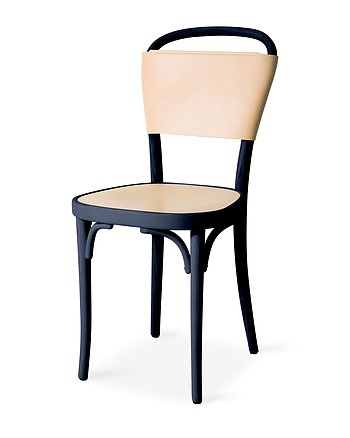 Chair, VILDA 3, Jonas Bohlin, Blues Blue /  Nature leather.