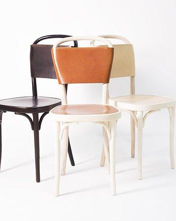Stol, VILDA 3, Jonas Bohlin,  Brun / Natur läder