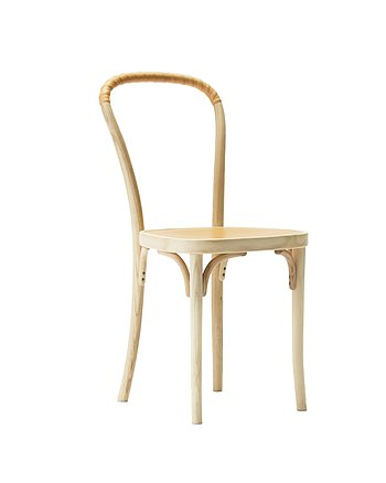 Chair, VILDA 2, Jonas Bohlin, White oiled ash / natural leather.