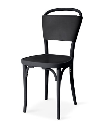 Chair, VILDA 3, Jonas Bohlin, Black /  black leather.
