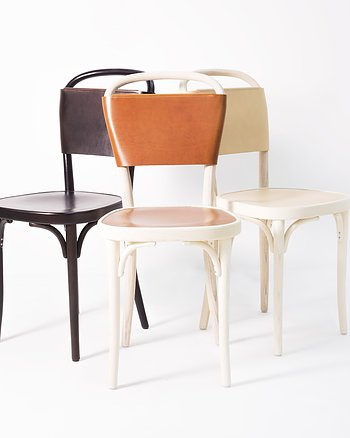 Chair, VILDA 3, Jonas Bohlin, Brown /  Brown leather.
