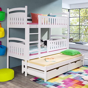 BLANKA bunk bed with pull out bed