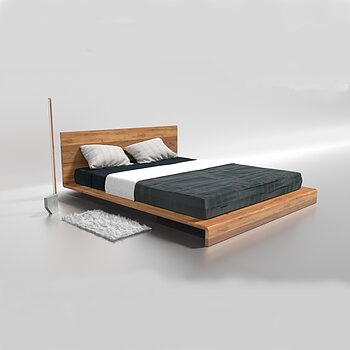 Paul wooden double bed oak