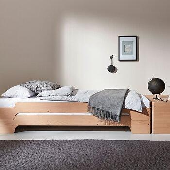 STACKING BED BEECH stabelbar seng
