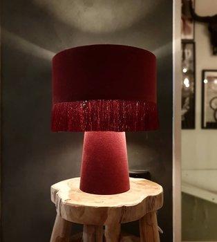 Bordslampa - Vinröd Sammet