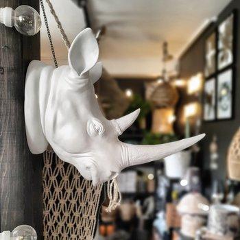 Väggdekoration - White Rhino