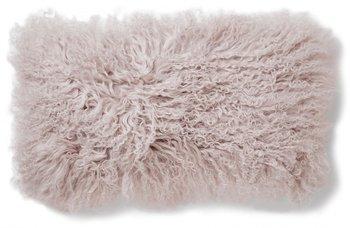 Kuddfodral Fårskinn - Lockigt Ljusrosa 25x50