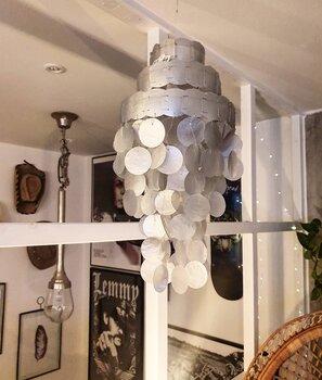 Snäckskalsskärm - Snäckskalslampa - Silver S