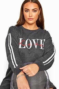 Sweatshirt med tryck, Love
