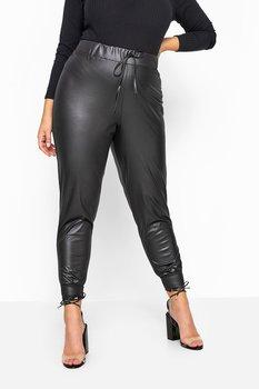 Byxa i läderlook, svart