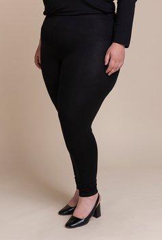 Leggings med hög resårmidja, svart