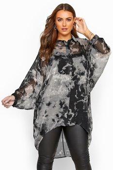 Skjorta i oversizemodell, svartgrå