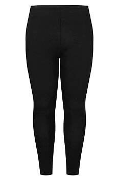 Leggings i bomull, svart