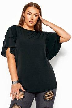 Tunika med volangärmar, svart
