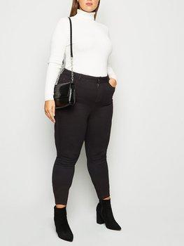 Jeans i skinnymodell och hög midja, svart