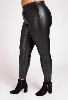 Byxa i rejäl skinnimitation, svart