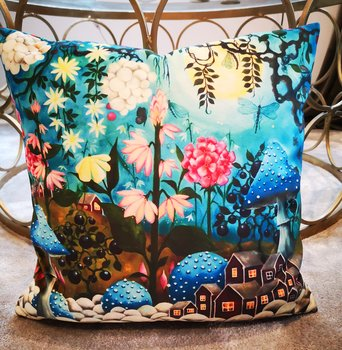 3. Pillowcover - Blue forest