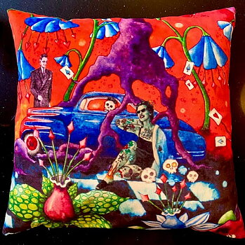 4. Pillowcover - Rockabilly Dream