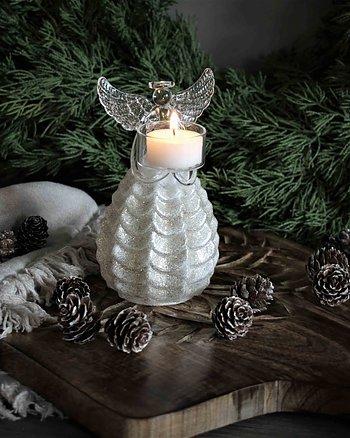 Ljushållare ängel Glas Glitter Maja Cottage