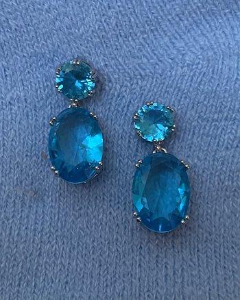 Örhänge Blue Bling Bling