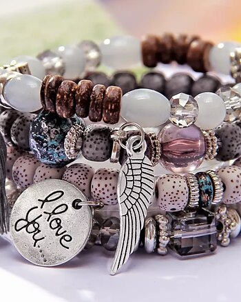 Armband Love You silver natur