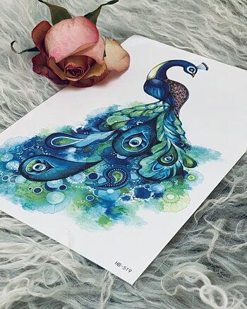 Tatoo Påfågel