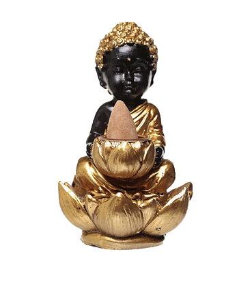 Rökelsebrännare Buddha Svart Lotus Backflow