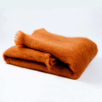 MANTAS EZCARAY Lisos Amber Mohair and Wool-Blend Throw