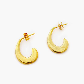 Di Lunedi Gold Orecchiette Hoop Earrings