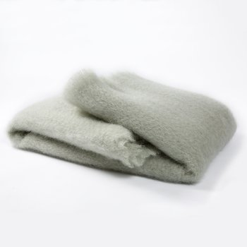 MANTAS EZCARAY Lisos Mint Mohair and Wool-Blend Throw