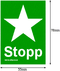 """Skylt """"Stopp"""""""