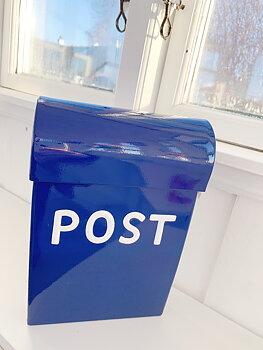 Mini  mailbox  Blue