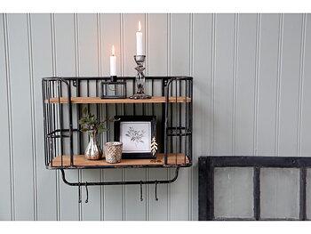 Antique black shelf