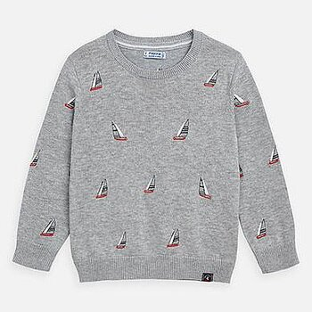Marine grey jumper