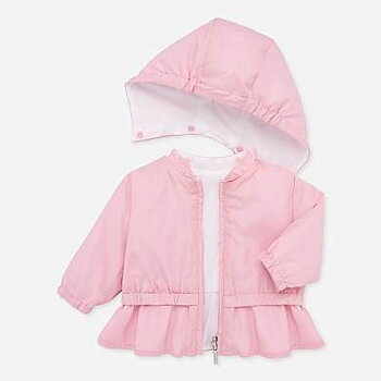 Pink reversible windbreaker jacket
