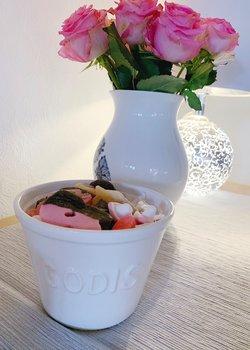 """Candy """" Godis""""  white bowl"""