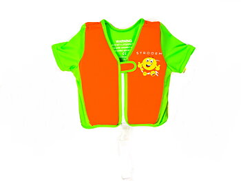 Swim Vest - Orange/Lime Smiley (2-4 år)