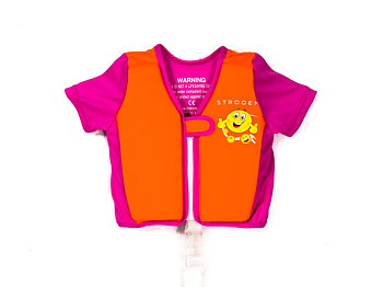 Swim Vest - Orange/Pink Smiley (2-4 år)