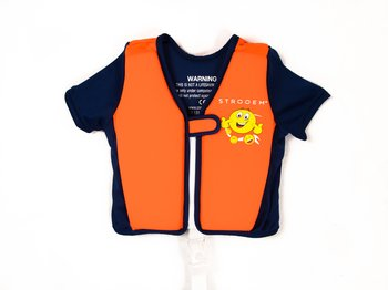 Swim Vest - Orange/Navy Smiley (4-6 år)