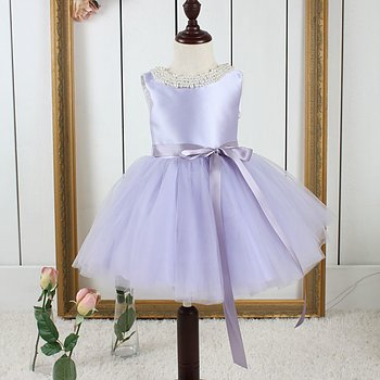 Purple princess dress in tulle Twill