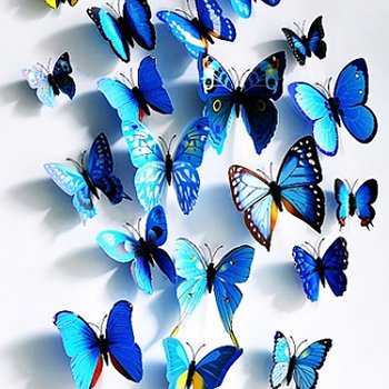 Butterflies decor Blue