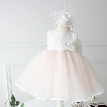Lightpink tulle dress with satin top